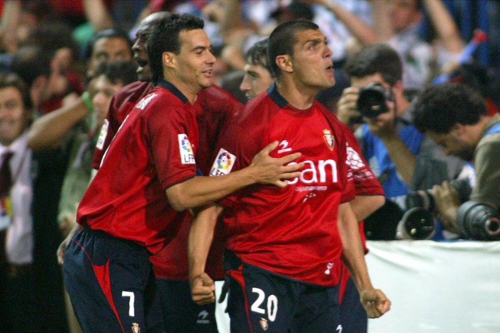 Aloisi celebra su gol en la final de Copa de 2005. Fotografía: Diario de Navarra.
