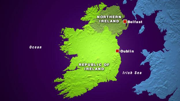 Mapa del Éire: Irlanda e Irlanda del Norte (Reino Unido). Fotografía: BBC.