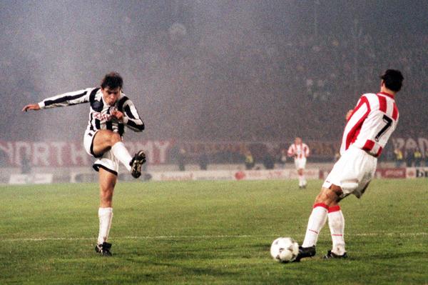Milosevic en un partido con el Partizan. Fotografía: Partizan.