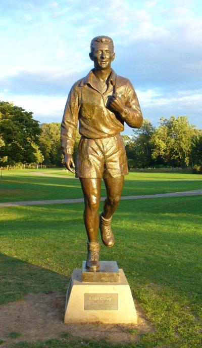 Clough's statue in Albert Park, Middlesbrough
