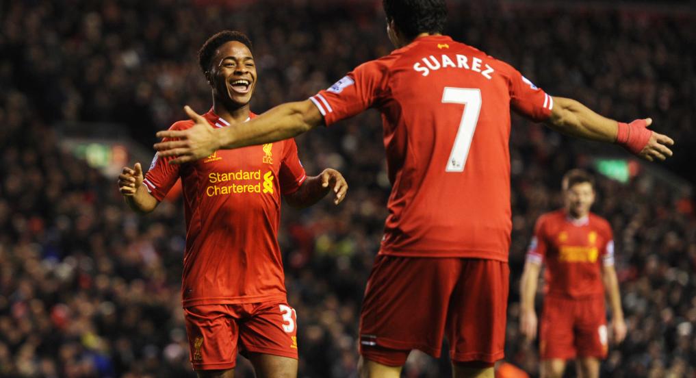 Sterling esteve em destaque na época passada, ao actuar ao lado de Suárez.
