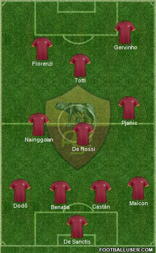 Once habitual de la Roma en la segunda mitad de la temporada 2013/14