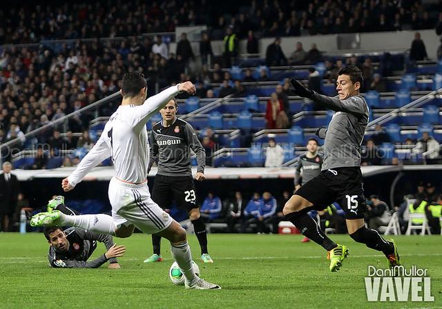 Cristiano Ronaldo, durante el Real Madrid - Espanyol el año pasado
