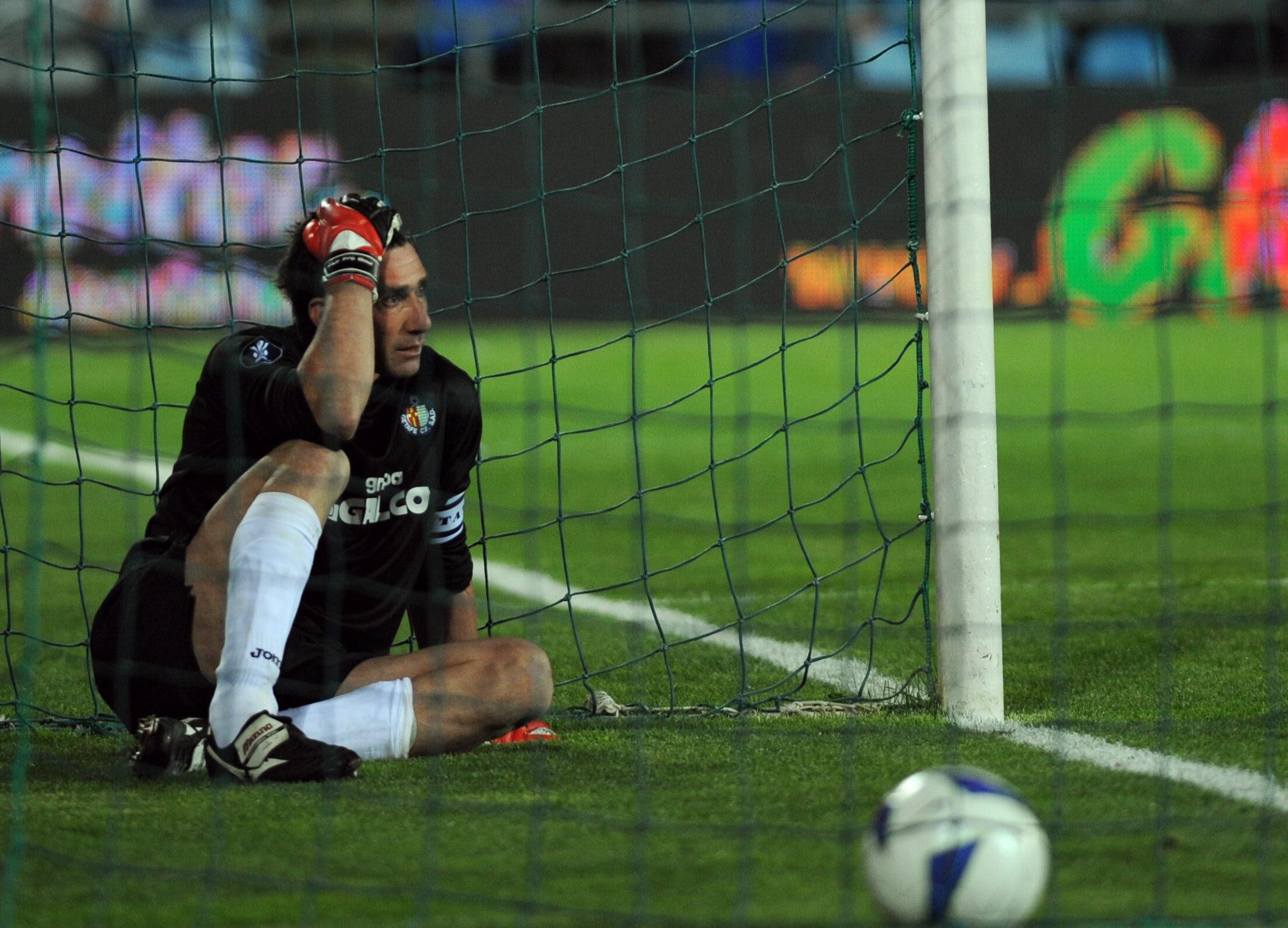 Abbondanzieri, tras encajar el empate a 3 frente al Bayern (Foto: ideal.es)
