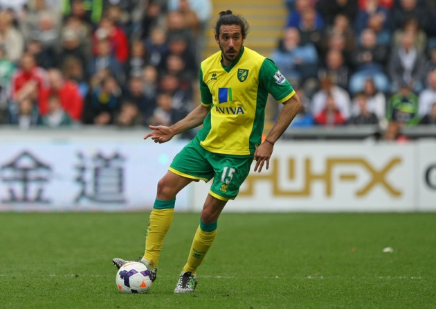 Jonás Gutiérrez en su primer partido con el Norwich | Foto: edp24.co.uk
