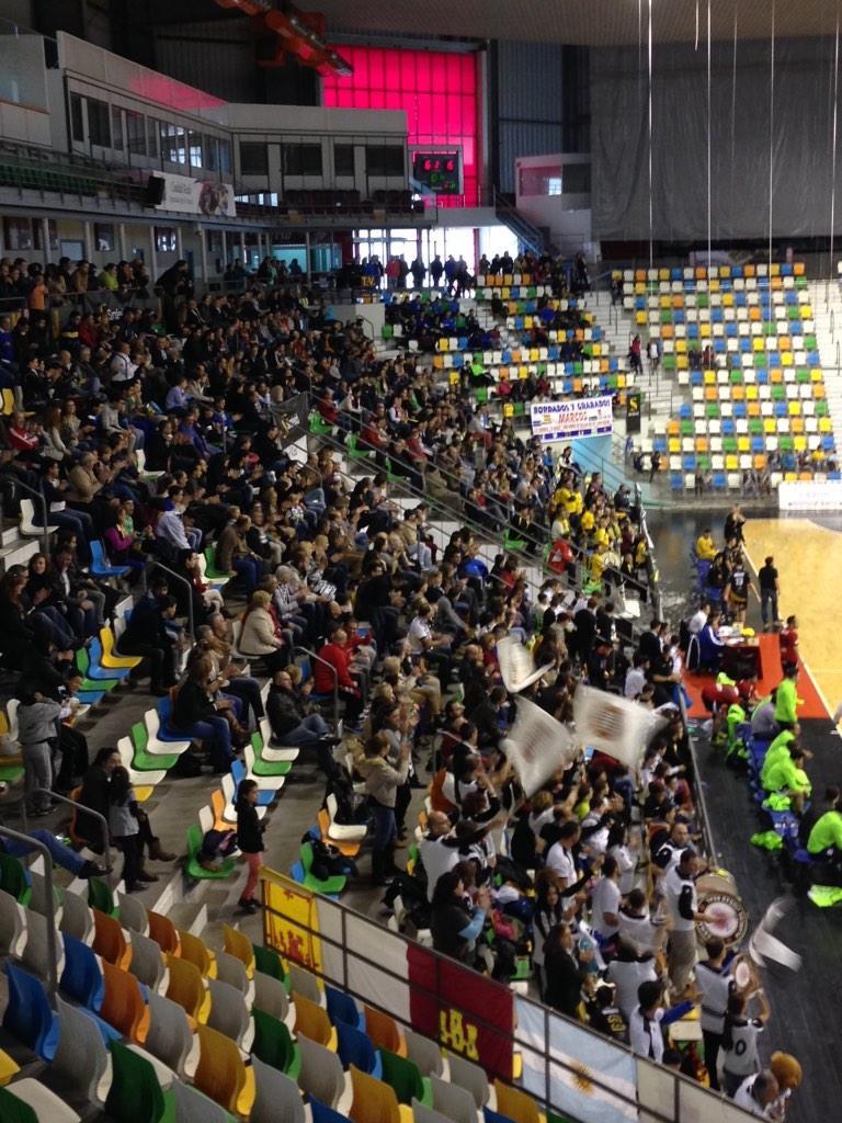 Así lucía el Quijote Arena en el derbi de la pasada temporada. Foto: Brígido Fernández.