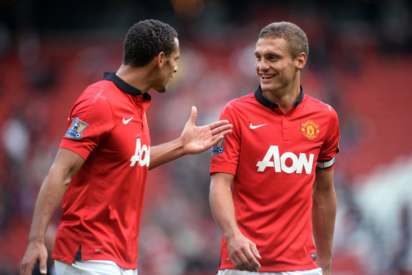 Vidic and Ferdinand in the final season at United