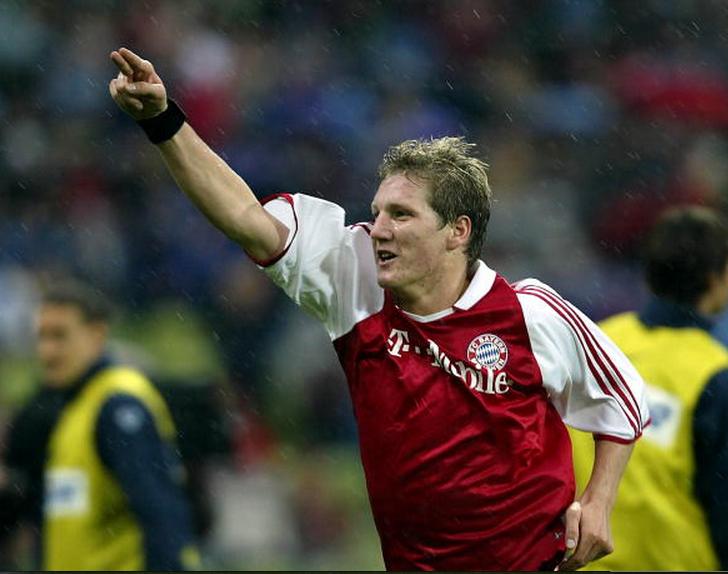 Schweinsteiger celebrating yet another goal.