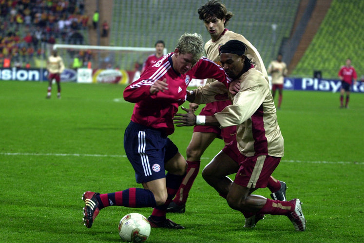 A young Bastian Schweinsteiger making his debut, for Bayern, in the Champions League