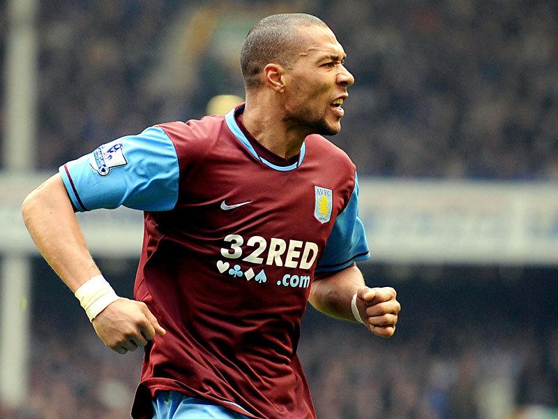 Carew celebrates a goal for Villa (photo: getty)