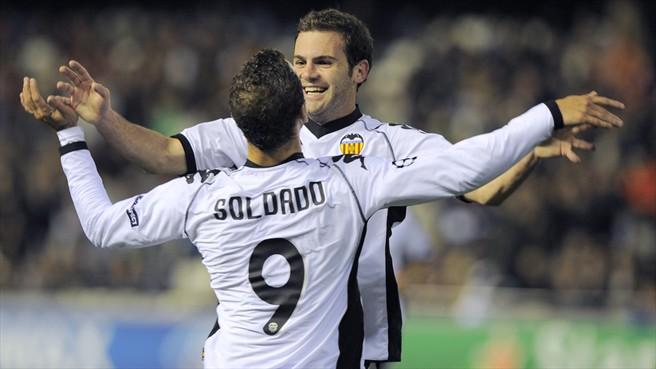 Both Juan Mata and Roberto Soldado have relocated to the Premier League. (UEFA)