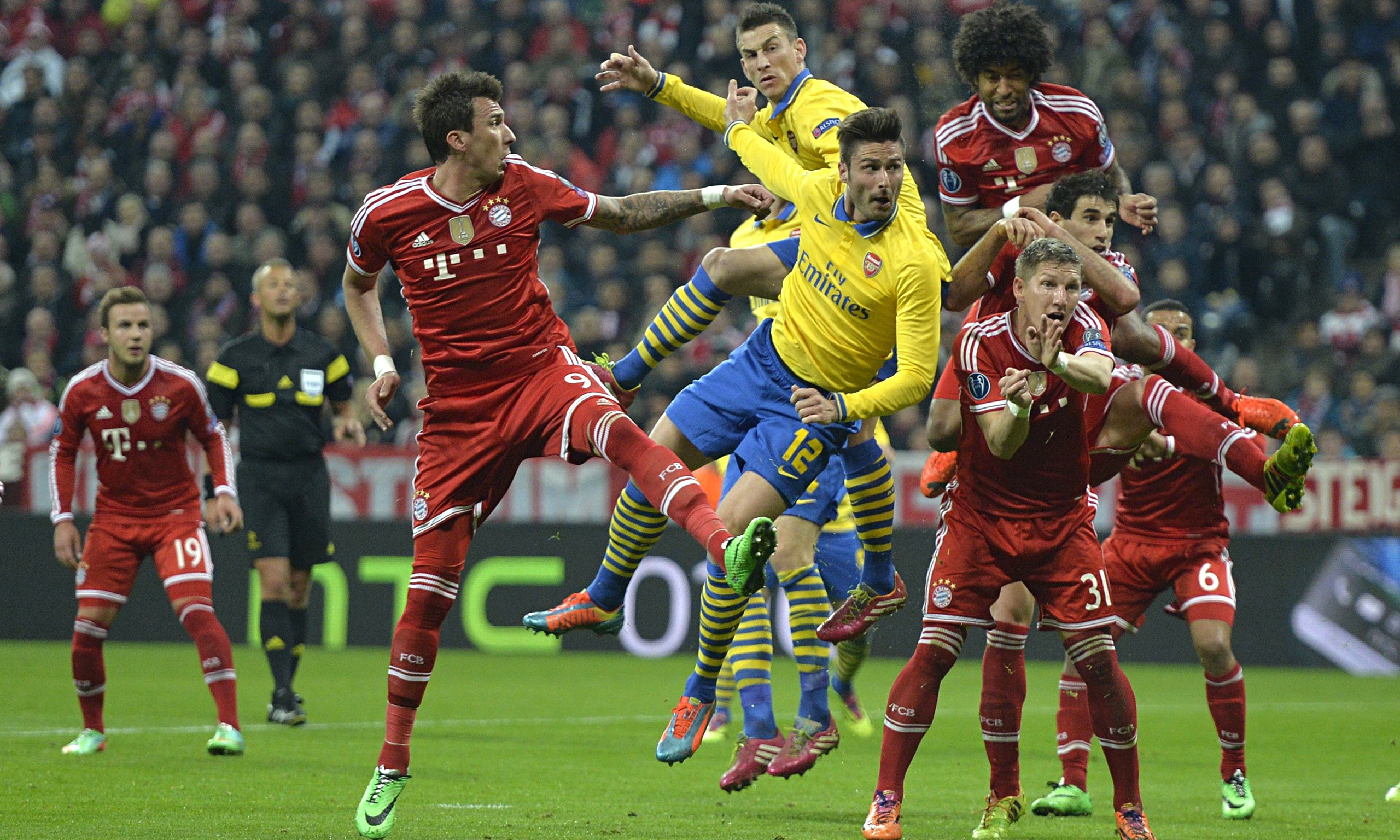 Arsenal will battle with Bayern Munich for Group F top spot.
