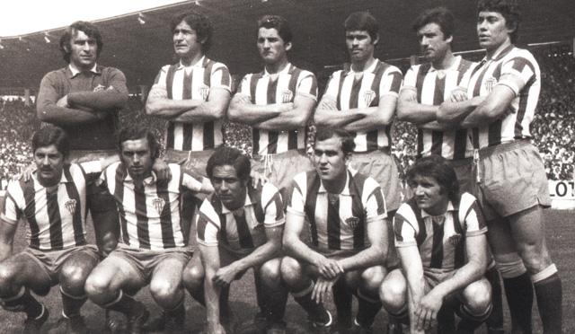 Alineación del Sporting en la temporada 74/75. Fotografía: Aranda arquitectos