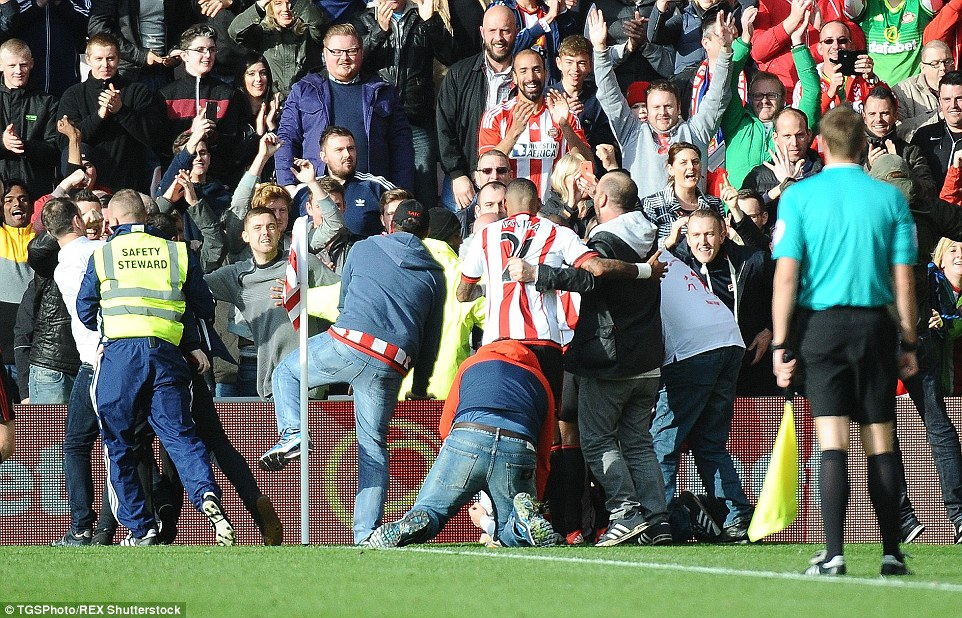 Fans were over-joyed in Sunderland's victory over local rivals Newcastle United - with the three goals as much a reason as the derby win.