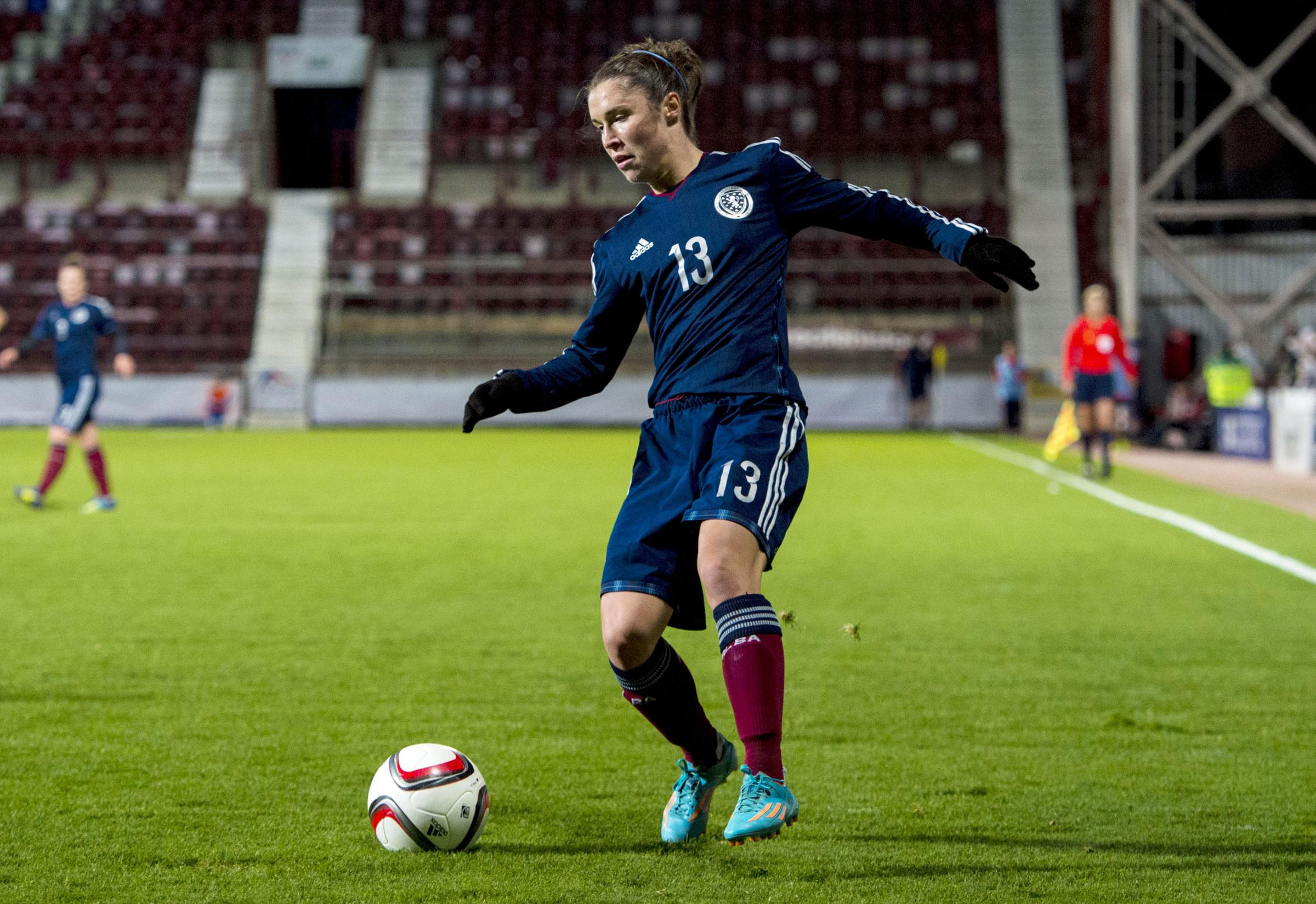 Ross (pictured) in action for her native Scotland