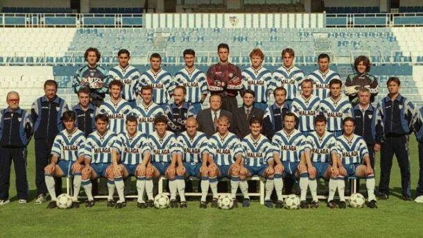Plantilla del Málaga CF con Manolo Herrero