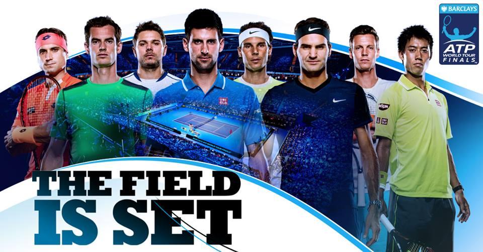 Ferrer, Murray, Wawrinka, Djokovic, Federer, Nadal, Berdych e Nishikori, em ordem (Foto: ATP World Tour)