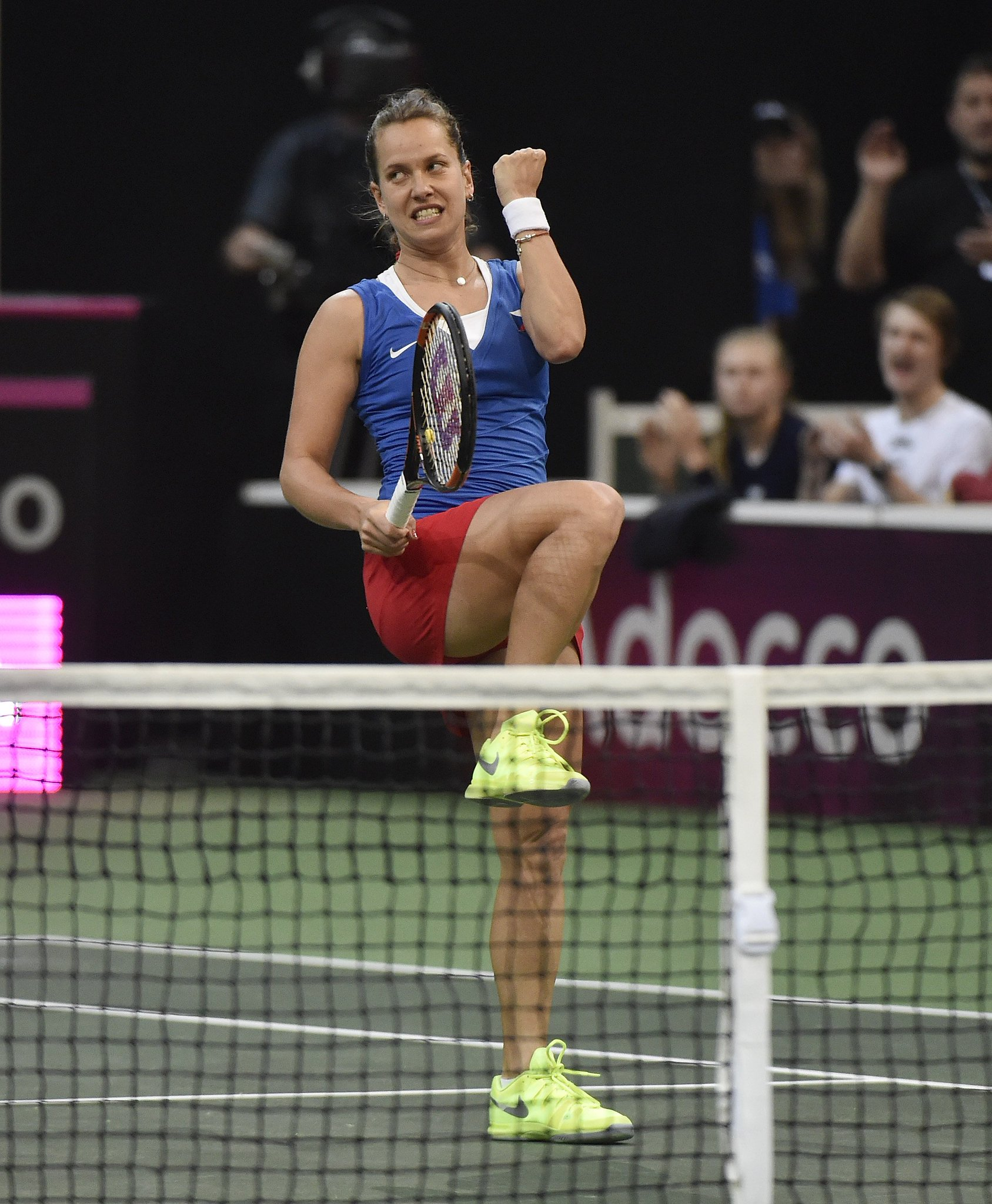 Barbora Strycova was the hero in the deciding rubber ( Source: Fed Cup)