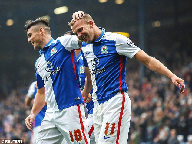 Will this season finally see Jordan Rhodes (R) move on from Ewood Park? (Image credit: Reuters)