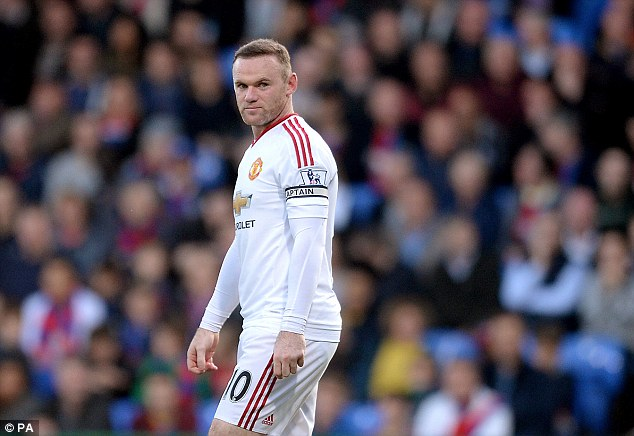 Rooney (pictured) often seemed quiet and was largely ineffective against Palace