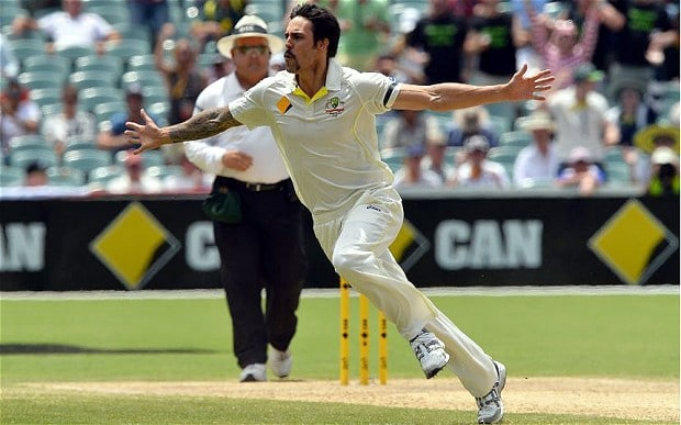 Mitchell Johnson ripped through England in the 2013-14 Ashes Series down under (image via: telegraph)