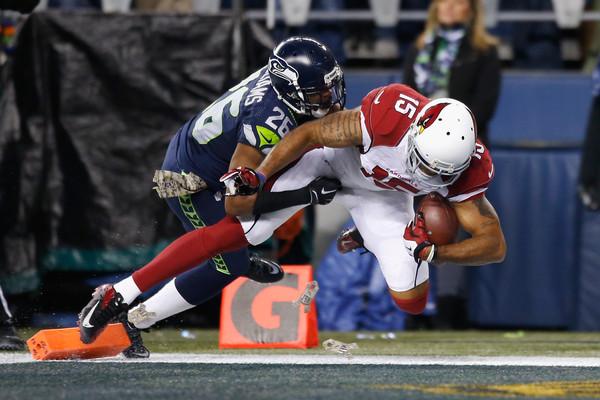 Michael Floyd scores a touchdown against the Seattle Seahawks