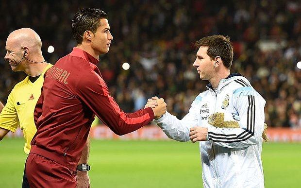 Cristiano Ronaldo faces Lionel Messi (photo: getty)