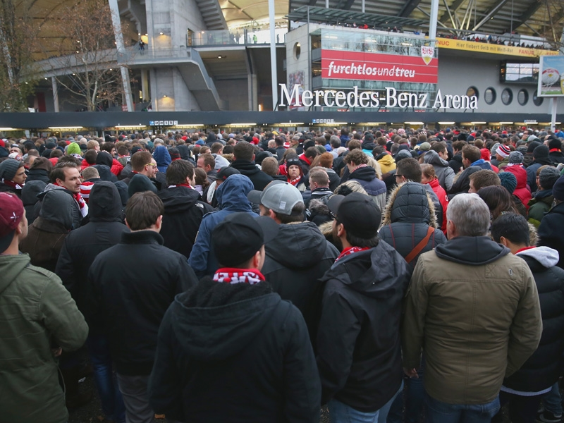 After the delays in entering the stadium, it seemed destined to go wrong for Stuttgart. (Image credit: kicker)