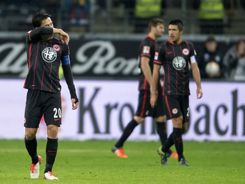 Frankfurt put in a lot of effort, but had no reward to show for it come the final whistle. (Image credit: kicker)