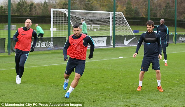 Aguero returned to training this past week, ahead of their clash with Liverpool