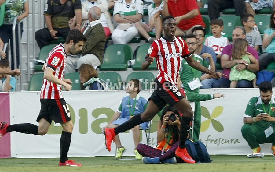 Williams celebra el gol ante el Elche. Fotografía: LFP
