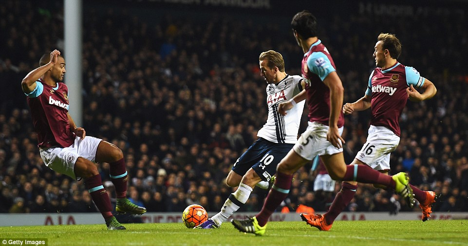 Kane strikes in the first half (photo: getty)