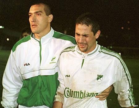 Yepes tras perder la final de la Copa Libertadores con el Deportivo Cali en 1999.