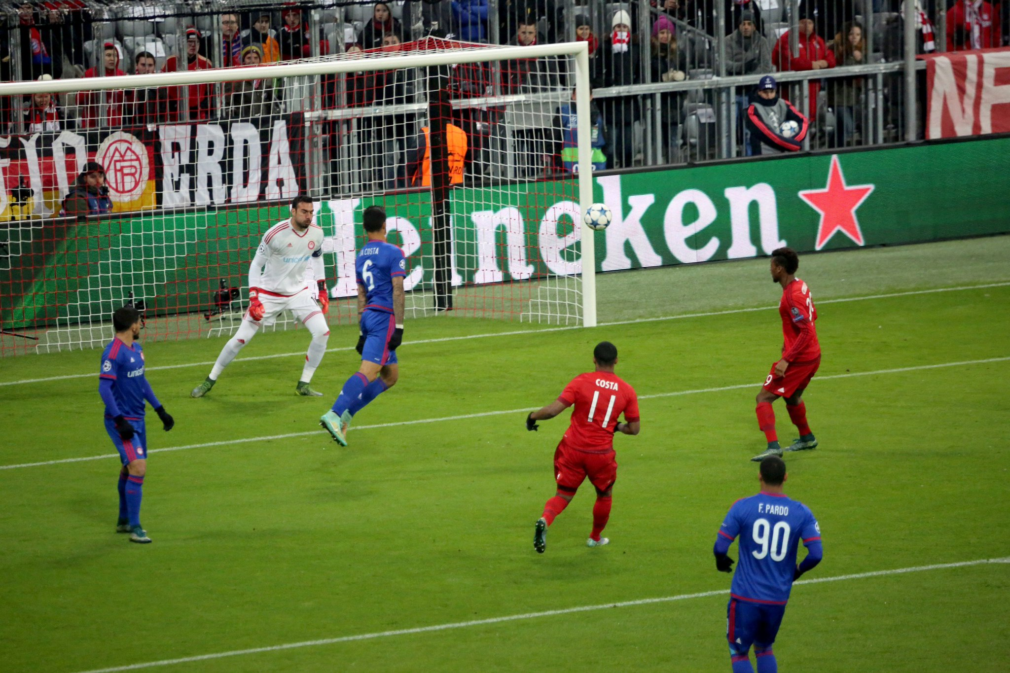 Costa with the early lead for the Bavarians. (Credit: Bayern Munich)