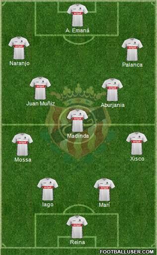 C. Gimnàstic Tarragona S.A.D. 3-5-2 football formation