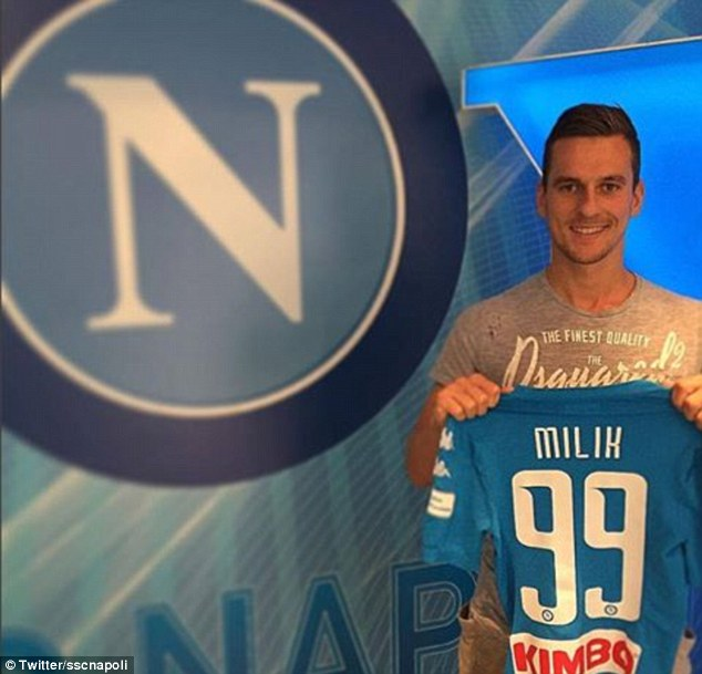 Milik poses with his new jersey | Photo: sscnapoli
