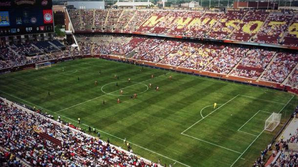 TCF Bank Stadium en un partido de fútbol (Imagen: minnesota.cbslocal.com)