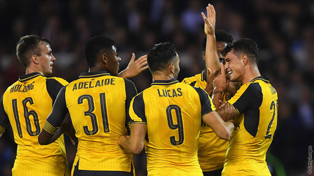 Celebración de uno de los goles al Nottingham Forest | Fotografía: Arsenal