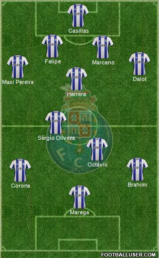 Futebol Clube do Porto - SAD 4-3-3 football formation