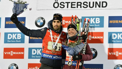 Fourcade et Dorin-Habert remportent le relais mixte simple d'Östersund