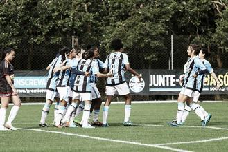 Grêmio goleia Sapucaiense impiedosamente e encaminha vaga na semifinal do Gaúcho Feminino