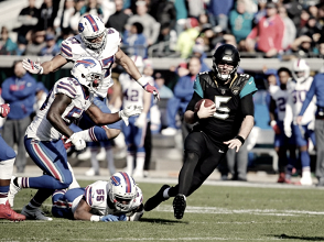 2018 NFL Playoffs: Blake Bortles' touchdown leads Jacksonville Jaguars in defensive battle against the Buffalo Bills