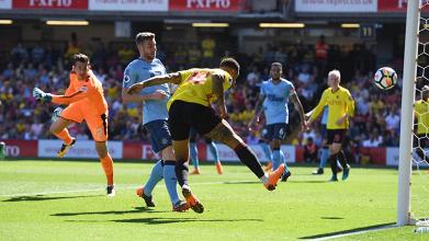 Il gol odierno di André Gray. | Watford Football Club, Twitter.