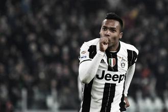 Alex Sandro esulta dopo il suo gol all'Empoli in questa stagione. | itasportpress.it