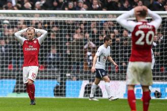 Jack Wilshere è stato fra i pochi a salvarsi nel tracollo di ieri contro il Tottenham. | Arsenal FC, Twitter.