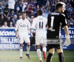 Cristiano diz 'Sim''' 3 vezes: Real Madrid vence Alavés e consolida liderança