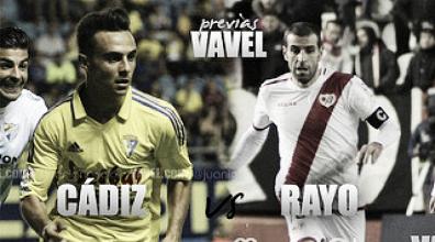 Previa Cádiz-Rayo:Dos equipos hermanados con diferentes objetivos