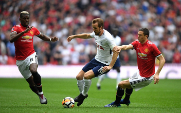 Harry Kane in azione durante la gara di oggi. | Tottenham Hotspur, Twitter.