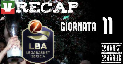 Legabasket: risultati e tabellini dell'undicesima giornata