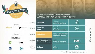 BirraSeries Málaga presenta la muestra televisiva PrimaveraTV en Muelle Uno